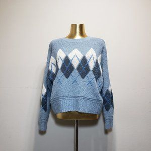 H&M Blue Argyle Sweater